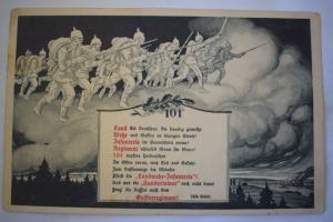 Ak Graudenz, 101 Infanterie - Regiment, 1916 gel., Feldpost