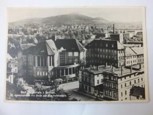 Ak Ziegenhals, St. Josephhaus mit Blick zur Bischofskoppe, Foto-Karte, gelaufen