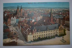 Ak Breslau, Wroclaw, Blick vom Elesabeth-Turm, nicht gelaufen