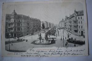 Ak Stettin, Szczecin, Kaiser Wilhelm Strasse, 1902 gelaufen