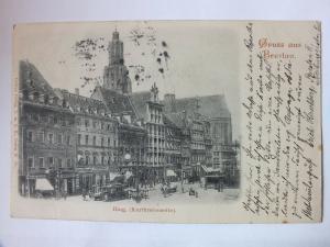 Ak Gruss aus Breslau, Wroclaw, Ring (Kurfürstenseite), 1901 gelaufen