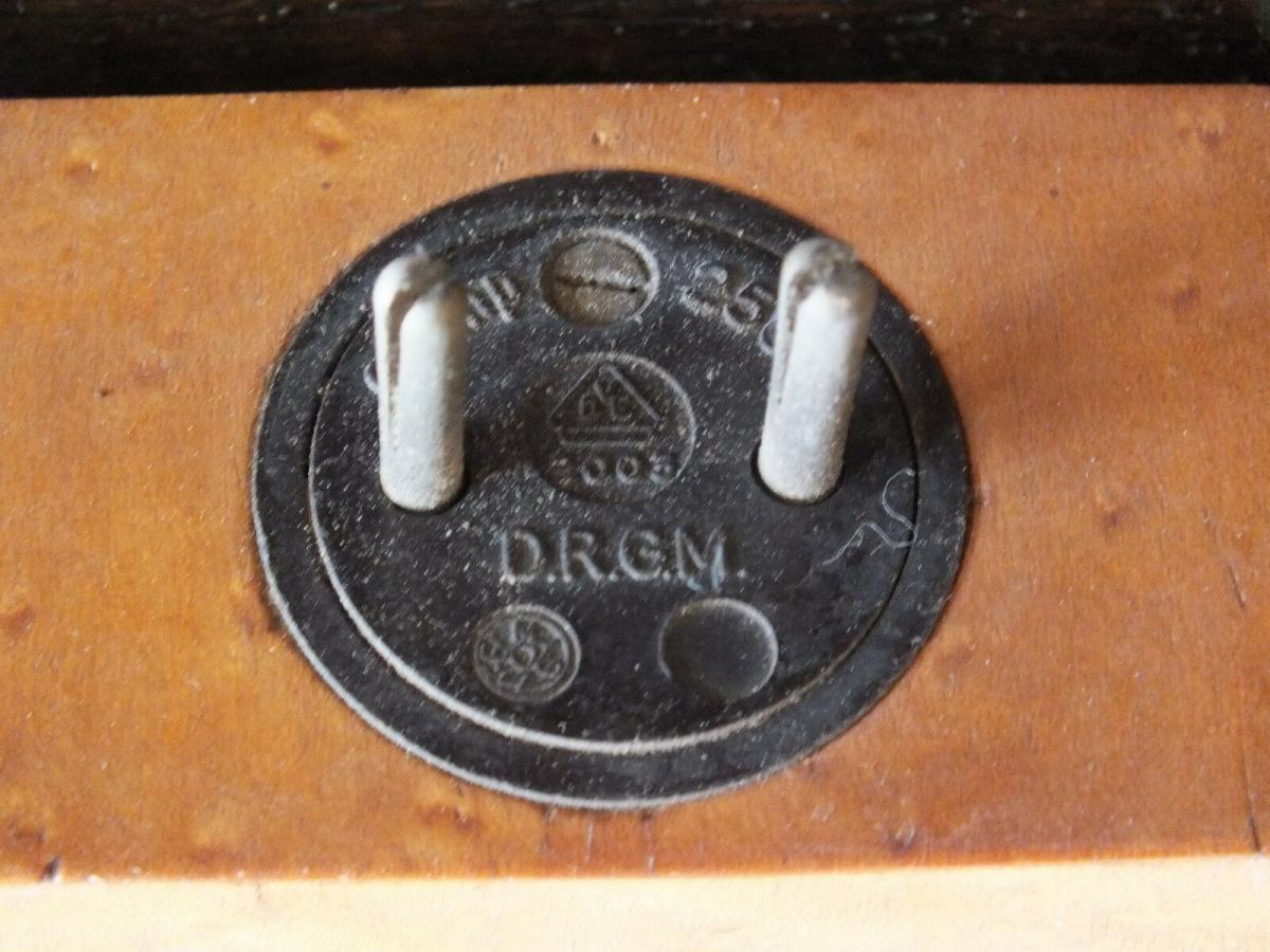 Wunderschöne Tischlampe, Intarsien, voll funktionstüchtig, um 1930 TOP! 2