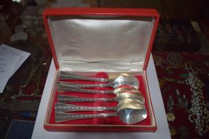 6 Kaffeelöffel, 916 Silber Tallin 1972 6 x 27g in Schachtel Tallina Juveelitehas