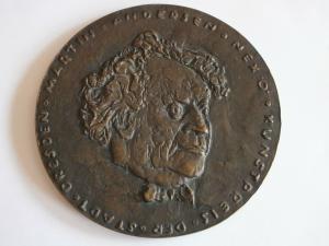 Schöne große Medaille, Kunstpreis der Stadt Dresden, Martin Andersen Nexö, 13cm