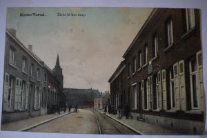 Ak Rycke - Vorsel, Zicht in het dorp, 1918 gelaufen, heute Rijkevorse