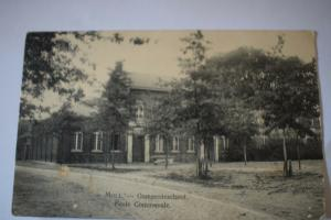 Ak Moll, Gemeenteschool, Ecole Communale  1916 gelaufen, bes. Stempel