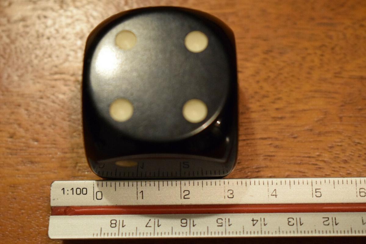 Würfel DDR Kunstharzwürfel 3,2 x 3,2 cm, schwarz 5