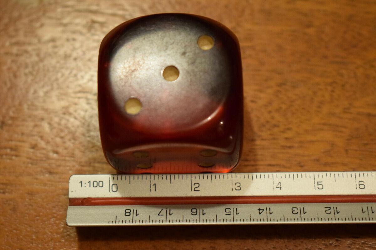 Würfel DDR Kunstharzwürfel 3,2 x 3,2 cm, orange, transparent 5