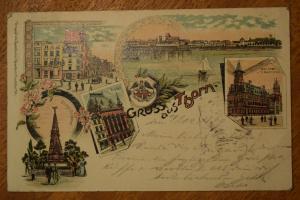 Ak Gruss aus Thorn, Altstädtischer Markt, Artushof, Post, 1899 gelaufen
