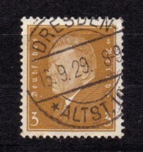 Deutsches Reich 1928, Friedrich Ebert, Mi.-Nr. 410 o VST DRESDEN