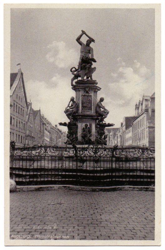 Augsburg - Herkulesbrunnen, FELDPOST 1941, Kunstverlag M. Seidlein, München