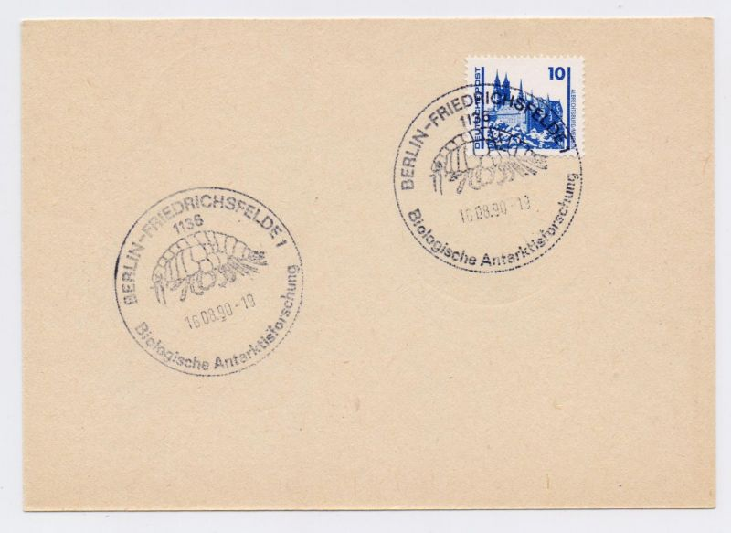 SST DDR - BERLIN FRIEDRICHSFELDE 1136, Biologische Antarktisforschung 16.08.90