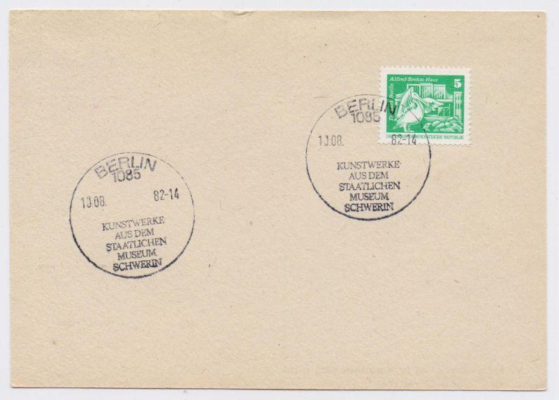 1085 BERLIN - Kunstwerke aus dem Staatlichen Museum Schwerin 10.08.82