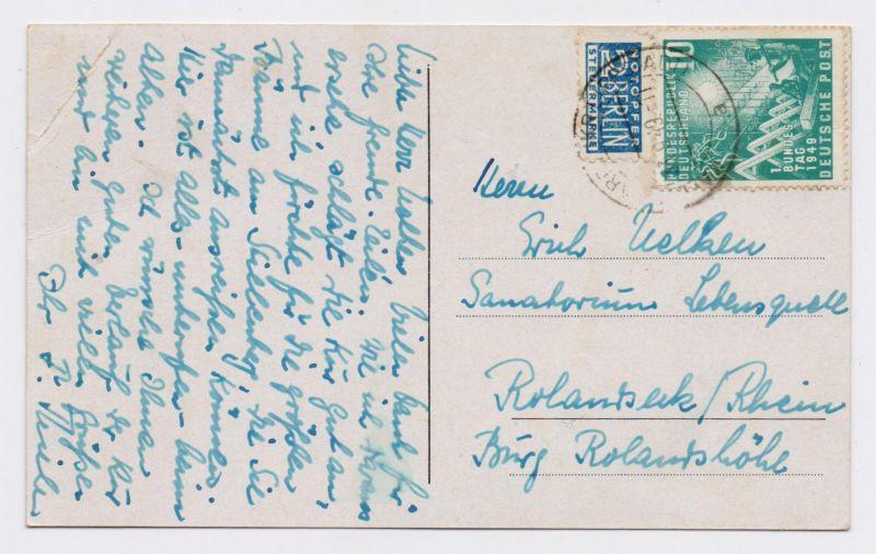 BRD AK KALLENHARDT - Sauerland mit EF Nr. 111 + NOB 1949