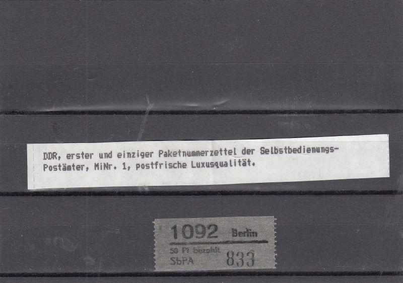DDR ZKD  Nr. Paketnr. Zettel