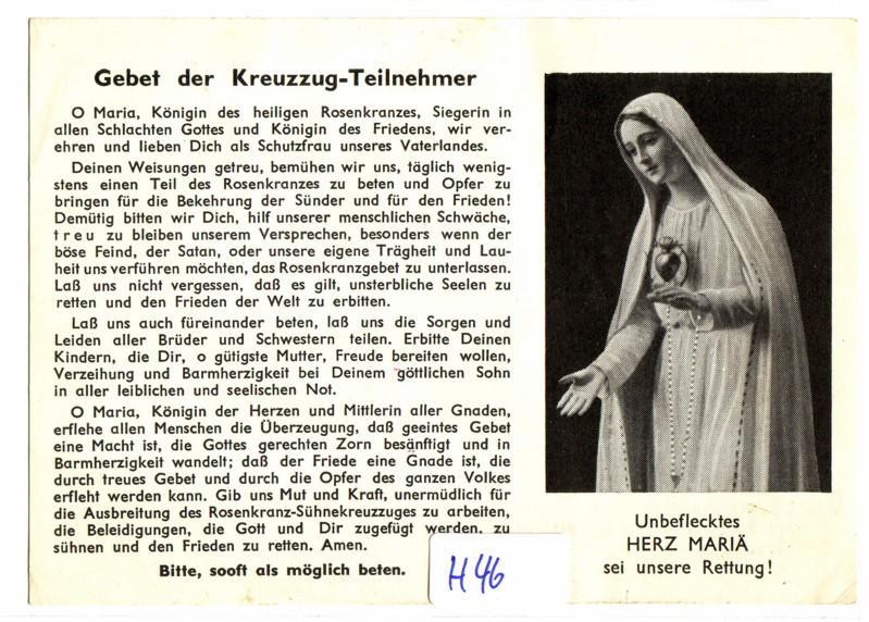 Heiligenbild Andachtsbild Mitgliedskarte