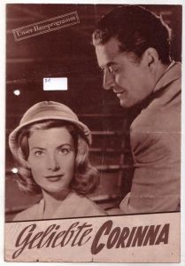 Original Filmprogramm Unser Hausprogramm Geliebte Corinna nach dem gleichnamigen Constanze-Roman von Robert Pilchowski