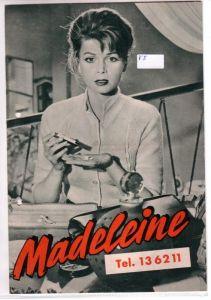 Original Filmprogramm Madeleine Tel. 136211