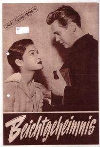 Original Filmprogramm Beichtgeheimnis nach einem Drehbuch von Dr. Erich Ebermayer
