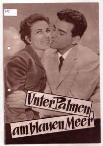 Original Filmprogramm Unter Palmen am blauen Meer