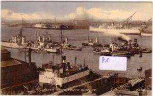 AK Großbritannien Collo Colour River Tyne South Shields ungelaufen