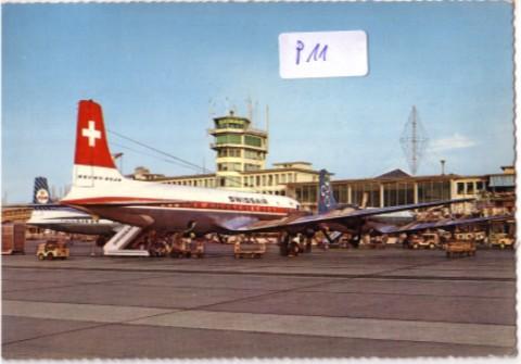 AK SWISSAIR Maschine Flughafen Kloten Zürich