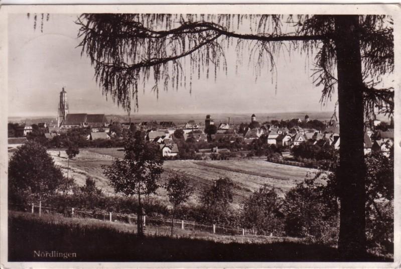 AK Nördlingen wohl um 1935 gelaufen