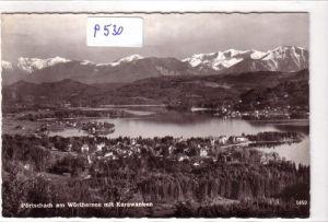 AK Pörtschach am Wörthersee mit Karawanken 1961 gelaufen