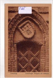 AK Lüneburg Lüneburger Wappen am Rathaus ungelaufen