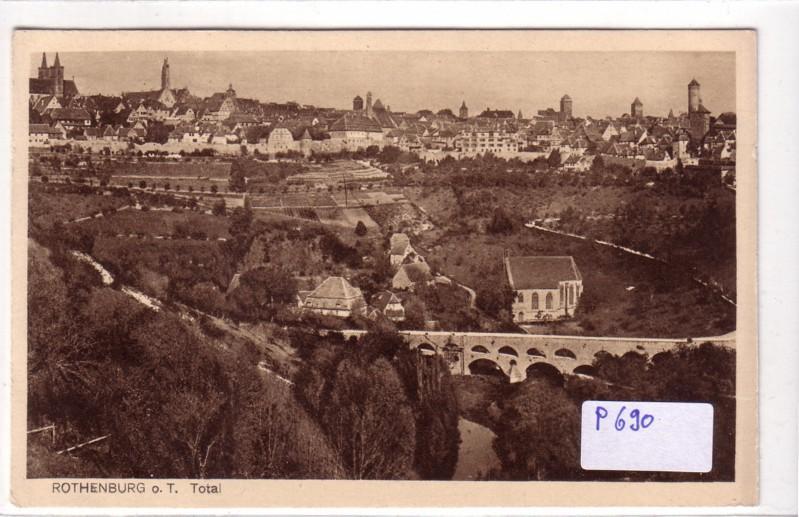 AK Rothenburg o. T. Totale ungelaufen