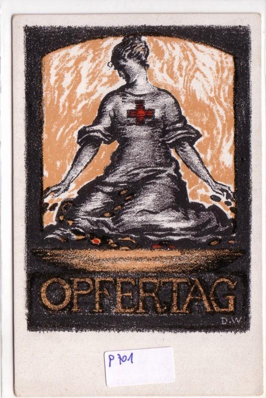 Opfertag 1917 Rotes Kreuz
