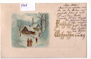 AK Passepartoutkarte Fröhliche Weihnachten 1904 gelaufen