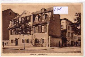 AK Weimar Schillerhaus ungelaufen