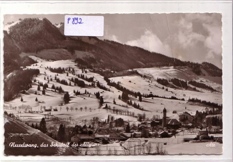 M M Nesselwang nesselwang i allgäu schwebelift m alpspitze winteransicht sessellift sk nr 216051 oldthing
