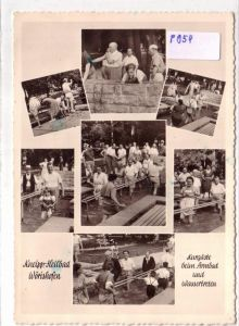 AK Kneipp-Heilbad Bad Wörishofen, Kneippen, Kurgäste beim Armbad und Wassertreten, Mehrbildkarte 1960er Jahre gelaufen