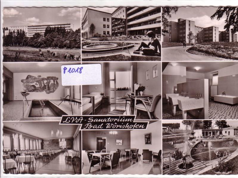 AK Bad Wörishofen LVA-Sanatorium Mehrbildkarte wohl 1962 gelaufen 0