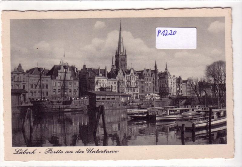 AK Lübeck Partie an der Untertrave
