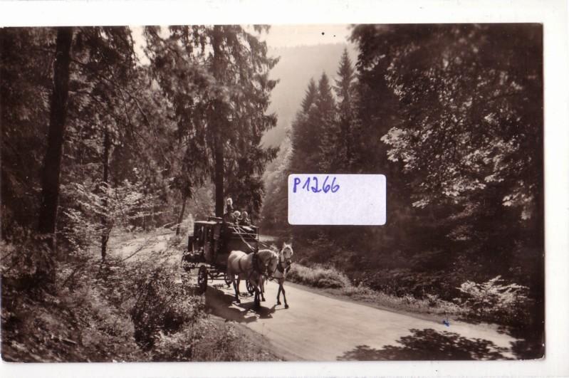 AK Schwarzburg in Thüringen Postkutsche im Schwarzatal