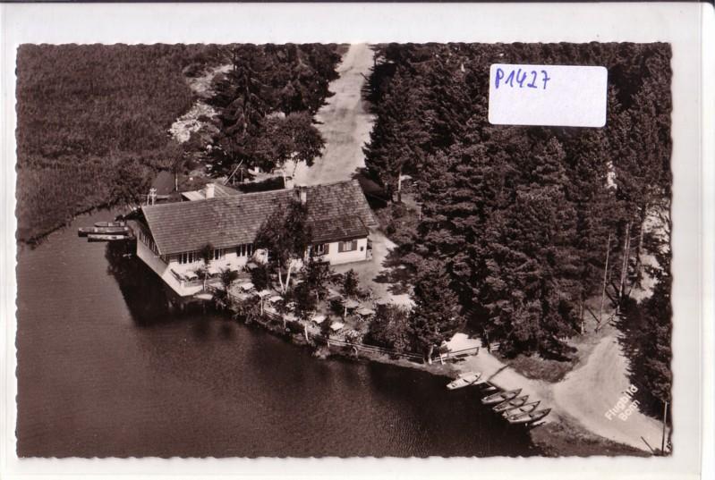 AK unbekannt Flugbild Gaststätte Terrasse See Biergarten