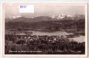 AK Österreich Pörtschach am Wörthersee mit Karawanken 1957 gelaufen
