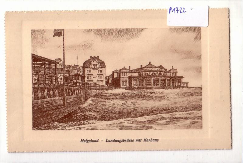 AK Helgoland Landungsbrücke mit Kurhaus