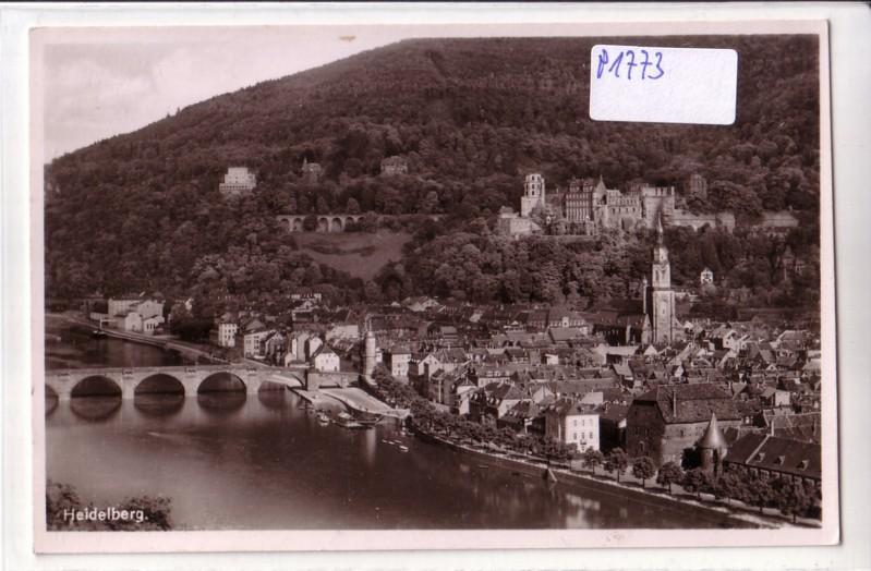 AK Heidelberg Brücke Schloss Ortsansicht