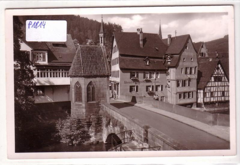 AK Calw Schwarzwald Nikolausbrücke