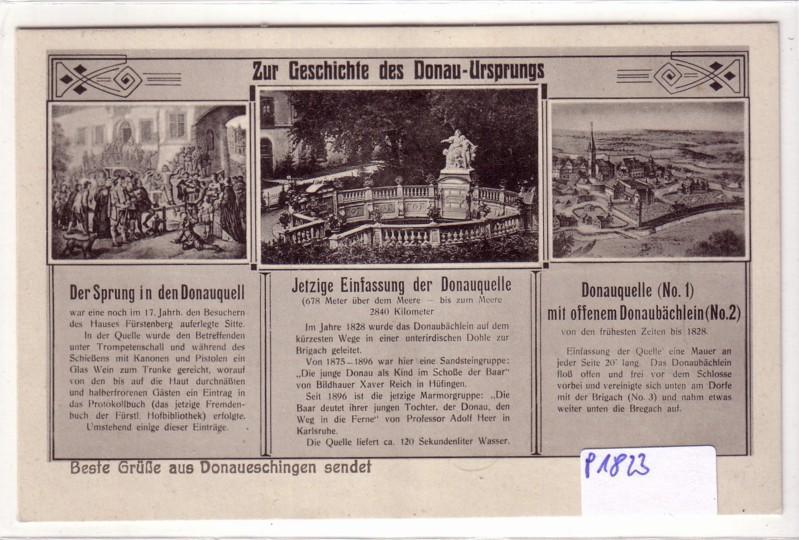 AK Donaueschingen Zur Geschichte des Donau-Ursprungs