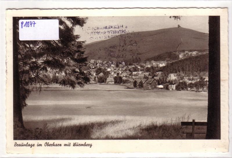 AK Braunlage im Oberharz mit Wurmberg