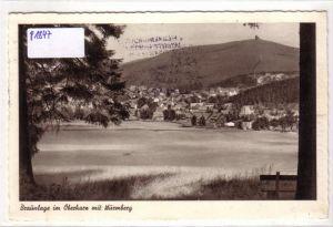 AK Braunlage im Oberharz mit Wurmberg 1958 gelaufen