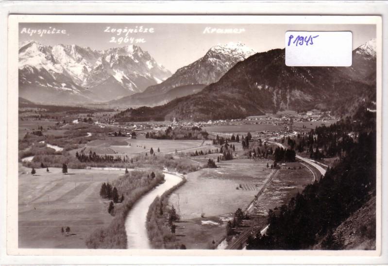 Oberau Loisach mit Bergpanorama