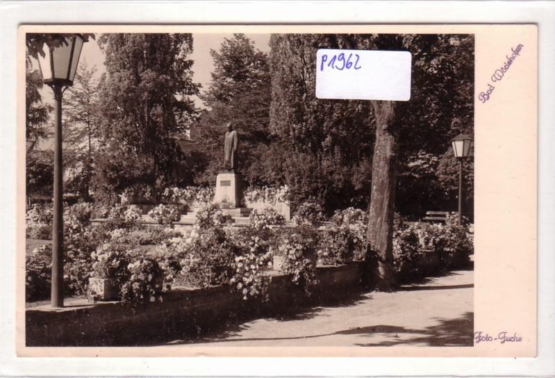 AK Bad Wörishofen Park Denkmal