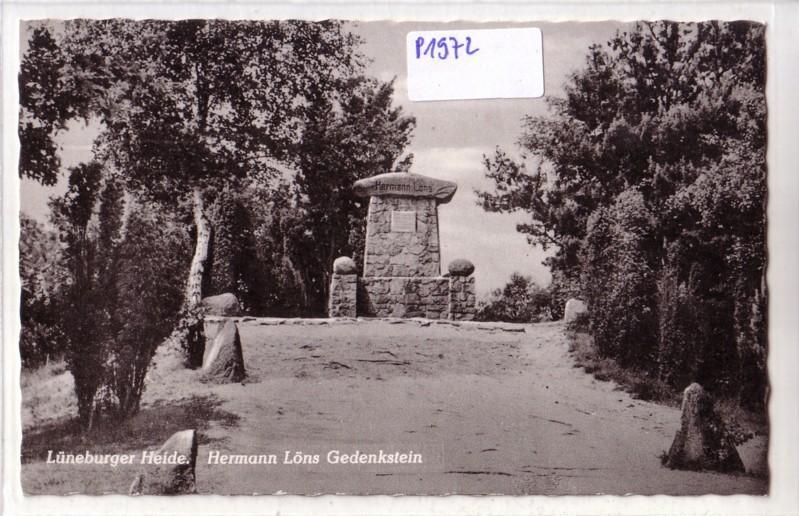 AK Hermann Löns Gedenkstein Lüneburger Heide