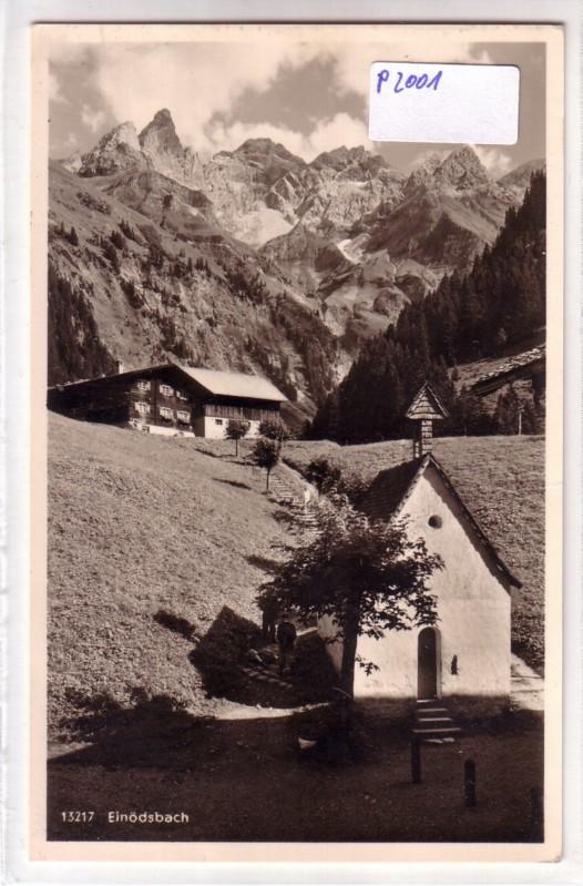 AK Einödsbach mit Mädelegabelgruppe bei Oberstdorf i. bayr. Allgäu wohl 1953 gelaufen